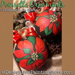 Poinsette (Poinsettia) Ornament PDF DOWNLOAD - Elisabetta DeMaria