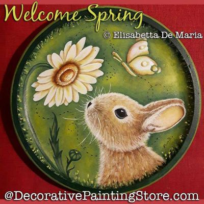 Welcome Spring (Bunny / Daisy) PDF DOWNLOAD - Elisabetta DeMaria