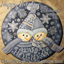 Happy Holiday Painting Pattern PDF DOWNLOAD - Elisabetta DeMaria
