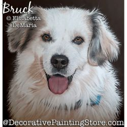 Bruck (Dog) Pastel Painting Pattern PDF DOWNLOAD - Elisabetta DeMaria