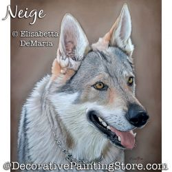 Neige (Dog) Pastel Painting Pattern PDF DOWNLOAD - Elisabetta DeMaria