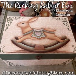 The Rocking Rabbit Box Painting Pattern PDF DOWNLOAD - Elisabetta DeMaria