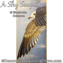 A Shy Seagull Painting Pattern PDF DOWNLOAD - Elisabetta DeMaria