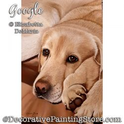 Google (Yellow Lab Dog) Pastel Painting Pattern PDF DOWNLOAD - Elisabetta DeMaria