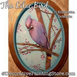 The Lilac Bird Painting Pattern PDF DOWNLOAD - Elisabetta DeMaria