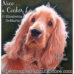 Nico a Cocker Love (Cocker Spaniel Dog) Pastel Painting Pattern PDF DOWNLOAD - Elisabetta DeMaria
