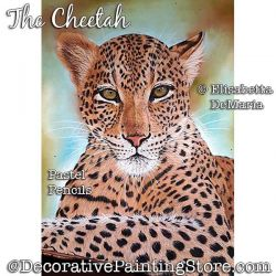 The Cheetah Pastel Painting Pattern PDF DOWNLOAD - Elisabetta DeMaria