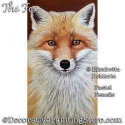 The Fox Pastel Painting Pattern PDF DOWNLOAD - Elisabetta DeMaria