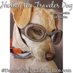 Harley the Traveler Dog Pastel Painting Pattern PDF DOWNLOAD - Elisabetta DeMaria