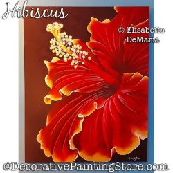 Hibiscus Painting Pattern PDF DOWNLOAD - Elisabetta DeMaria