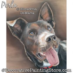 Perla (Dog) Pastel Painting Pattern PDF DOWNLOAD - Elisabetta DeMaria