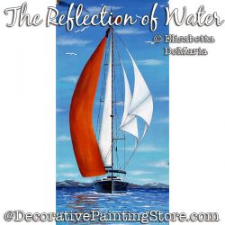 The Reflection of Water (Sailboat) Painting Pattern PDF DOWNLOAD - Elisabetta DeMaria