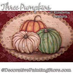 Three Pumpkins Painting Pattern PDF DOWNLOAD - Elisabetta DeMaria