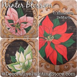 Winter Blossom Painting Pattern PDF DOWNLOAD - Elisabetta DeMaria