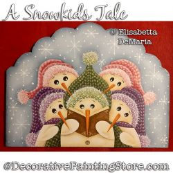 A Snowkids Tale Painting Pattern PDF DOWNLOAD - Elisabetta DeMaria