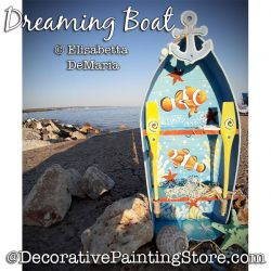 Dreaming Boat (Clown fish) Painting Pattern PDF DOWNLOAD - Elisabetta DeMaria