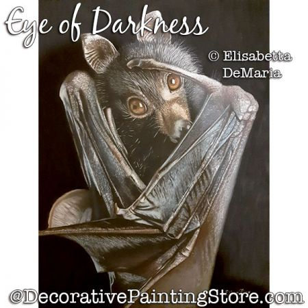 Eye of Darkness (Fruit Bat) Pastel Painting Pattern PDF DOWNLOAD - Elisabetta DeMaria