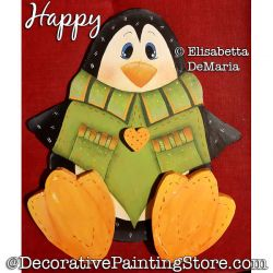 Happy (Penguin) Painting Pattern PDF DOWNLOAD - Elisabetta DeMaria