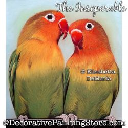 The Inseparable (Love Birds) Pastel Painting Pattern PDF DOWNLOAD - Elisabetta DeMaria
