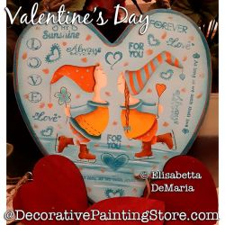 Valentines Day (Children-Elves) Painting Pattern PDF DOWNLOAD - Elisabetta DeMaria