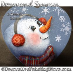 Dimensional Snowman PDF DOWNLOAD - Annette Dozier