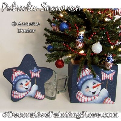Patriotic Snowman PDF DOWNLOAD - Annette Dozier