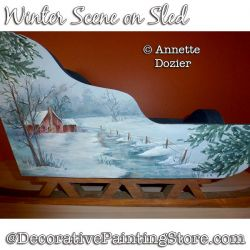 Winter Scene on Sled PDF DOWNLOAD - Annette Dozier