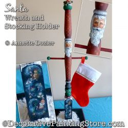 Santa Wreath and Stocking Holder PDF DOWNLOAD - Annette Dozier