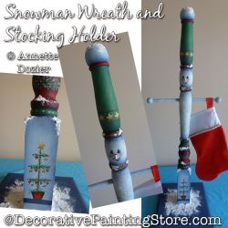 Snowman Wreath and Stocking Holder PDF DOWNLOAD - Annette Dozier