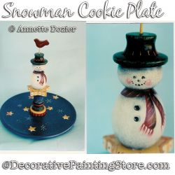 Snowman Cookie Plate PDF DOWNLOAD - Annette Dozier