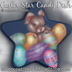 Easter Star Candy Dish Painting Pattern PDF DOWNLOAD - Annette Dozier