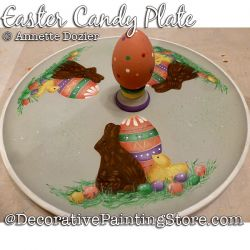 Easter Candy Plate Painting Pattern PDF DOWNLOAD - Annette Dozier