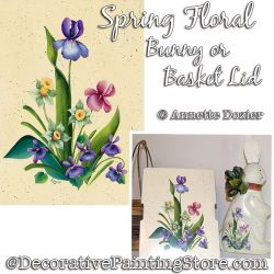 Spring Floral Bunny Painting Pattern PDF DOWNLOAD - Annette Dozier