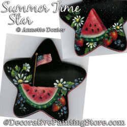 Summer Time Star Painting Pattern PDF DOWNLOAD - Annette Dozier