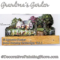 Grandmas Garden Painting Pattern PDF DOWNLOAD - Annette Dozier