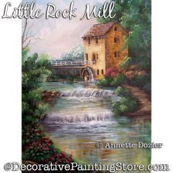 Little Rock Mill Painting Pattern PDF DOWNLOAD - Annette Dozier