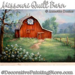 Missouri Quilt Barn Painting Pattern PDF DOWNLOAD - Annette Dozier