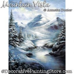 Mountain Vista Painting Pattern PDF DOWNLOAD - Annette Dozier