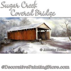 Sugar Creek Covered Bridge Painting Pattern PDF DOWNLOAD - Annette Dozier