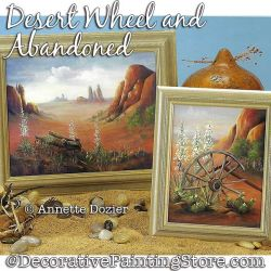 Desert Wheel and Abandoned Double Painting Pattern PDF DOWNLOAD - Annette Dozier