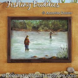 Fishing Buddies Painting Pattern PDF DOWNLOAD - Annette Dozier