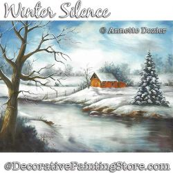 Winter Silence Painting Pattern PDF DOWNLOAD - Annette Dozier