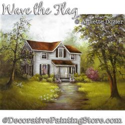 Wave the Flag Painting Pattern PDF DOWNLOAD - Annette Dozier