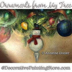 Ornaments from My Tree Painting Pattern PDF DOWNLOAD - Annette Dozier