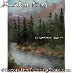 Mountain Pines Painting Pattern PDF DOWNLOAD - Annette Dozier