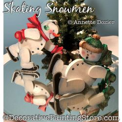 Skating Snowmen Painting Pattern PDF DOWNLOAD - Annette Dozier