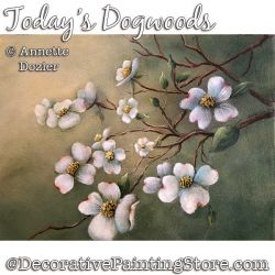 Todays Dogwood Painting Pattern PDF DOWNLOAD - Annette Dozier