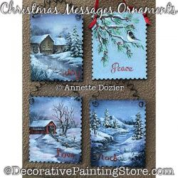 Christmas Messages Ornaments Painting Pattern PDF DOWNLOAD - Annette Dozier