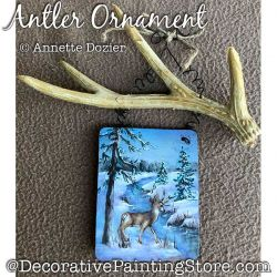 Antler Ornament Painting Pattern PDF DOWNLOAD - Annette Dozier