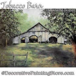 Tobacco Barn Painting Pattern PDF DOWNLOAD - Annette Dozier